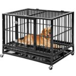 Merax Heavy Duty Dog Crate Pet Kennel Dog Cage