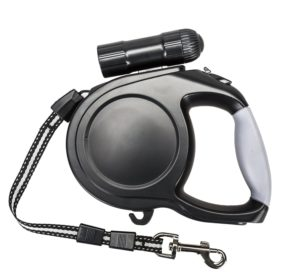 Heavy Duty Retractable Dog Leash With Flashlight