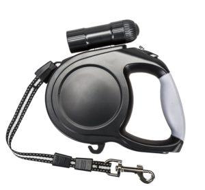 Heavy Duty Retractable Dog Leash With Flashlight